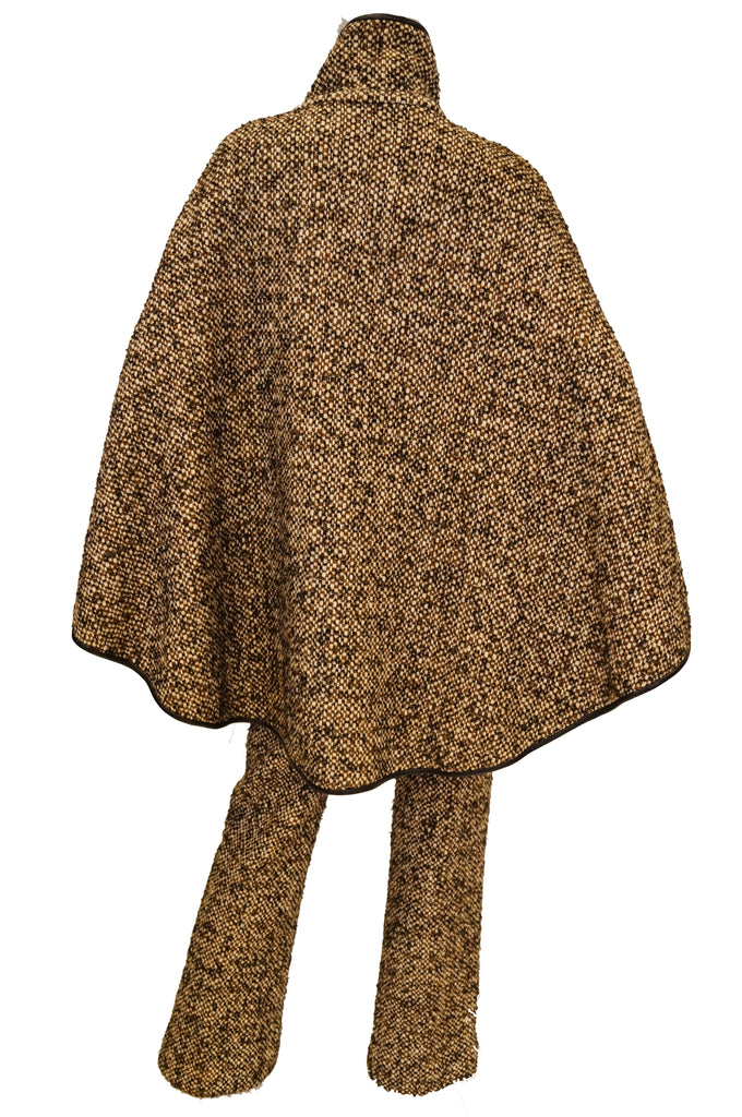 1960s Bonnie Cashin Sills Wool & Leather Cape w/ Trousers
