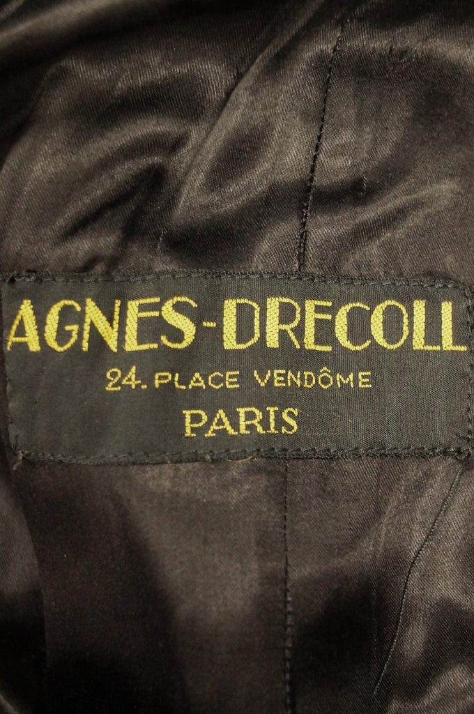 1940s Agnes - Drecoll Beaded Pompom Princess Coat - Rare