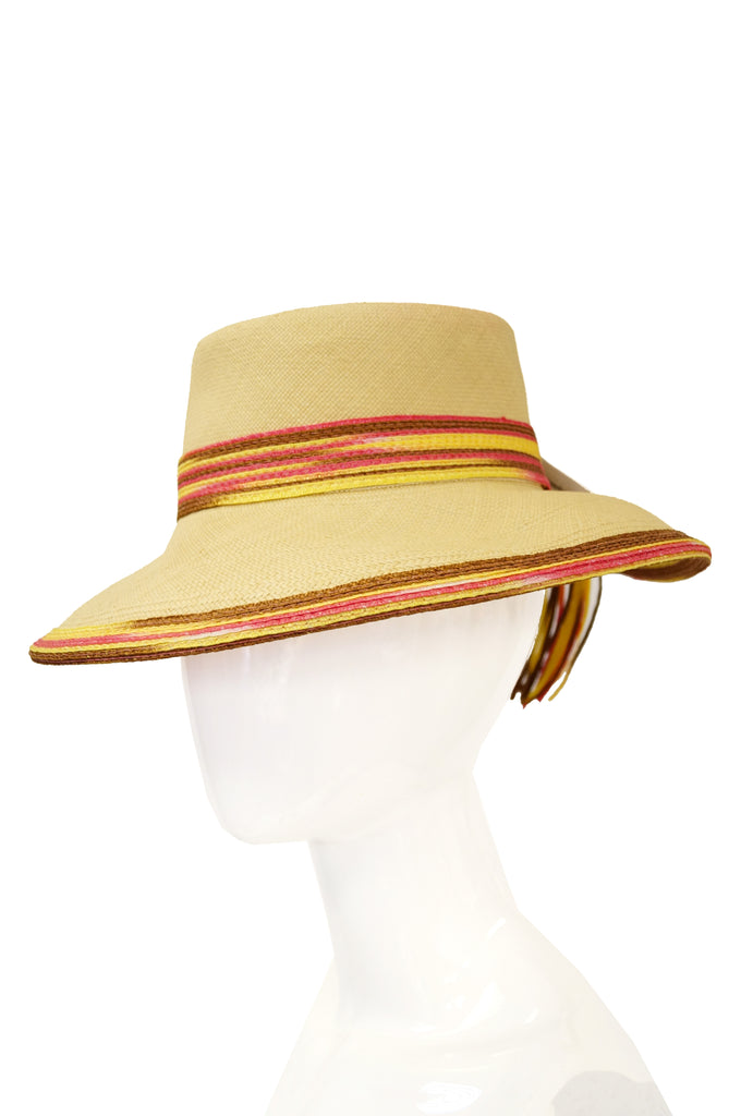 1970s Yves Saint Laurent Colorful Tassel Sun Hat, M
