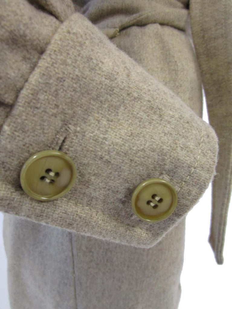 1970s Beige Wool Tailored Jumpsuit