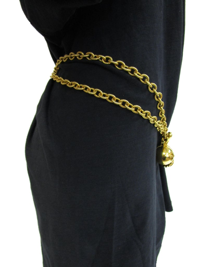 1990's Moschino Iconic Gold Link Charm Belt