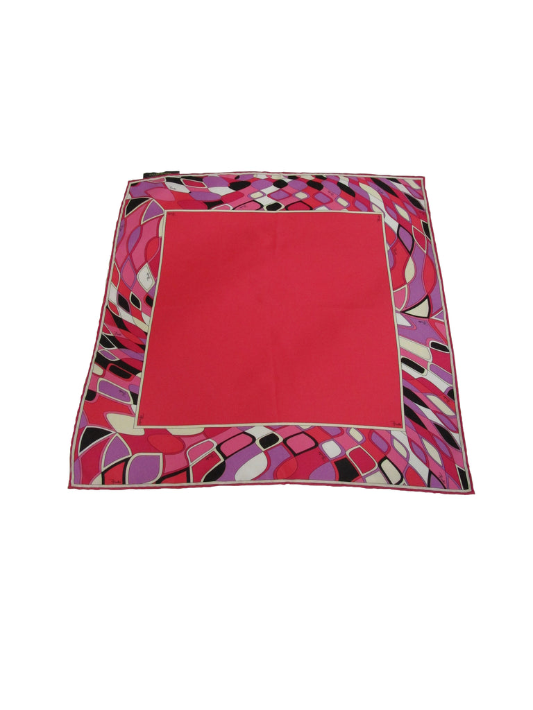 Multicolored Border Pucci Scarf with Original Packaging