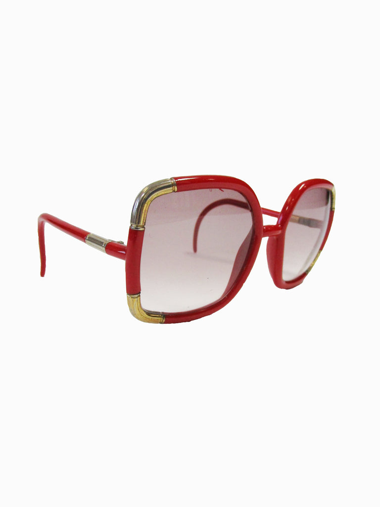Ted Lapidus Coral Red Sunglasses