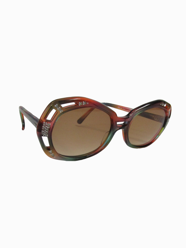 Vintage Red and Green French Sunglasses