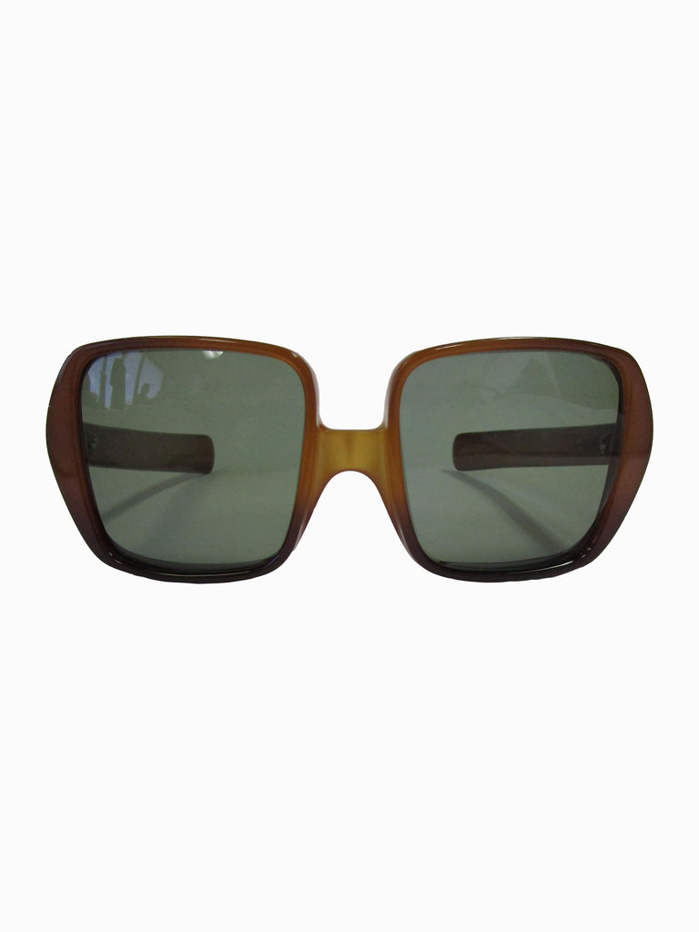 70s Christian Dior Translucent Brown Optyl Sunglasses