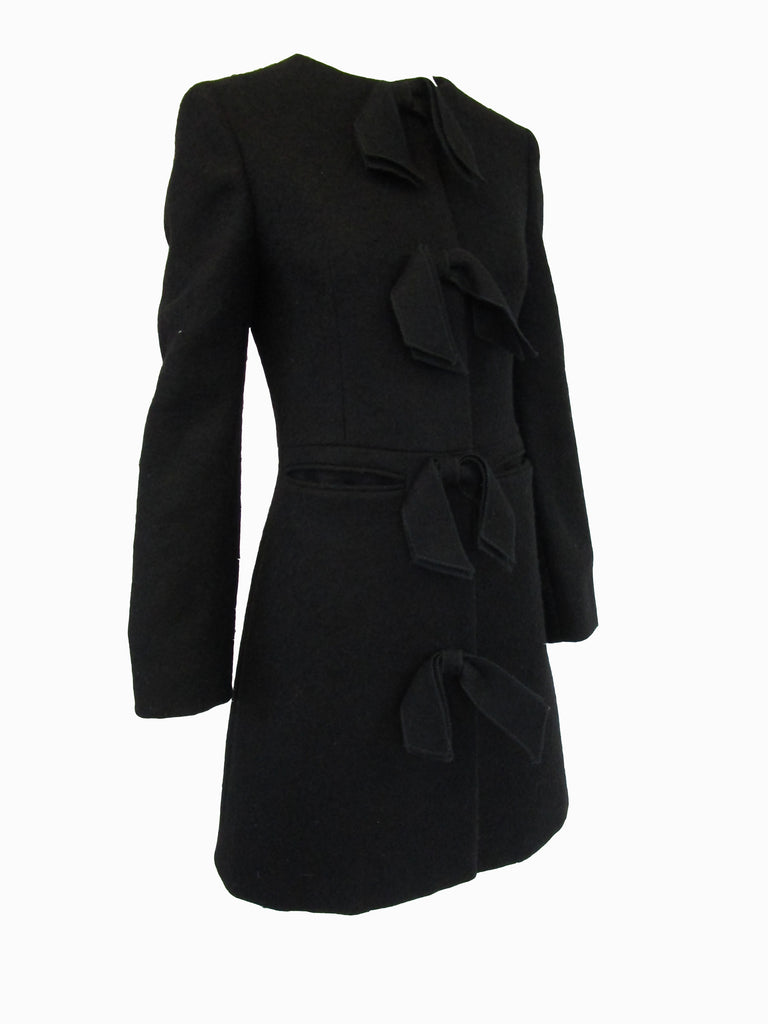 Black Wool Pringle of Scotland Coat