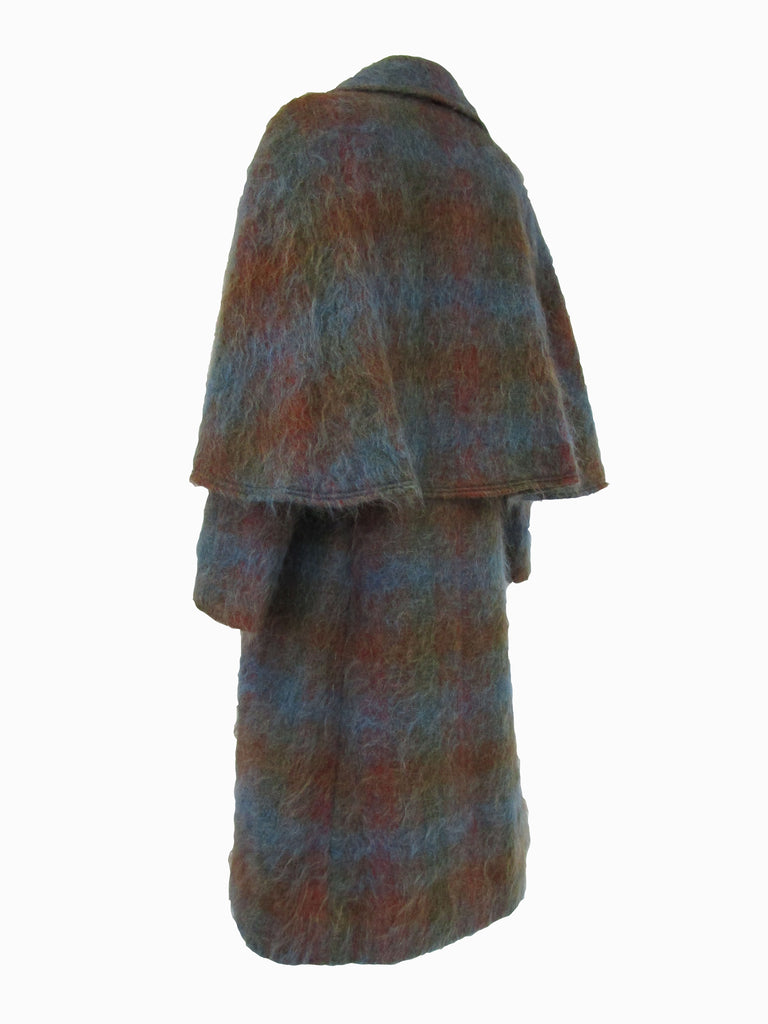 Vintage Multi Colored Mohair Ulster Coat
