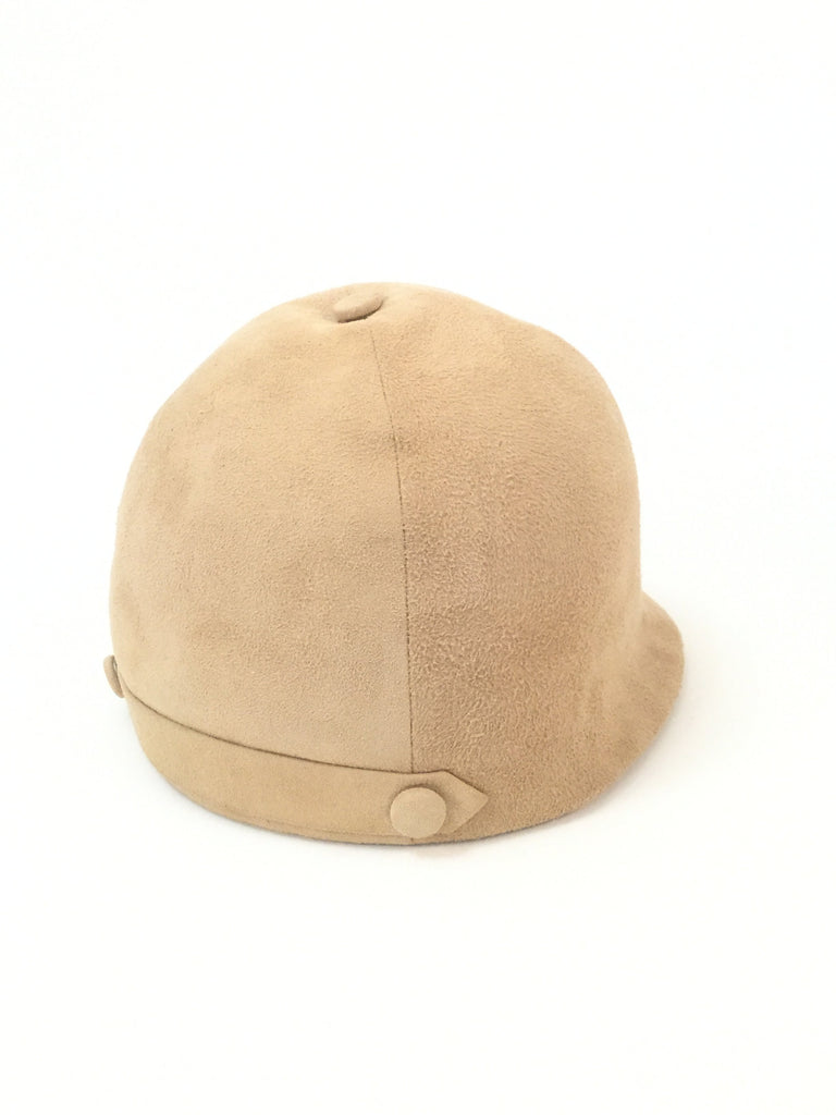 1960s Camel Colored Suede Equestrian Hat