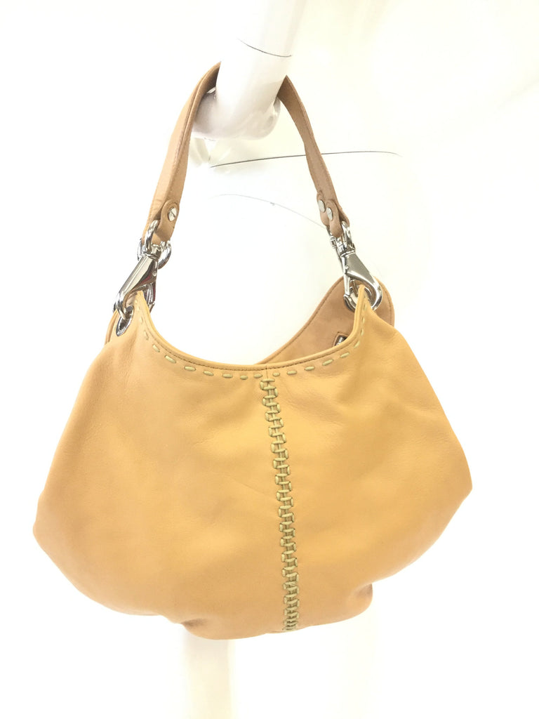 Desmo Italian Diagonal Closure Leather Slouch Handbag