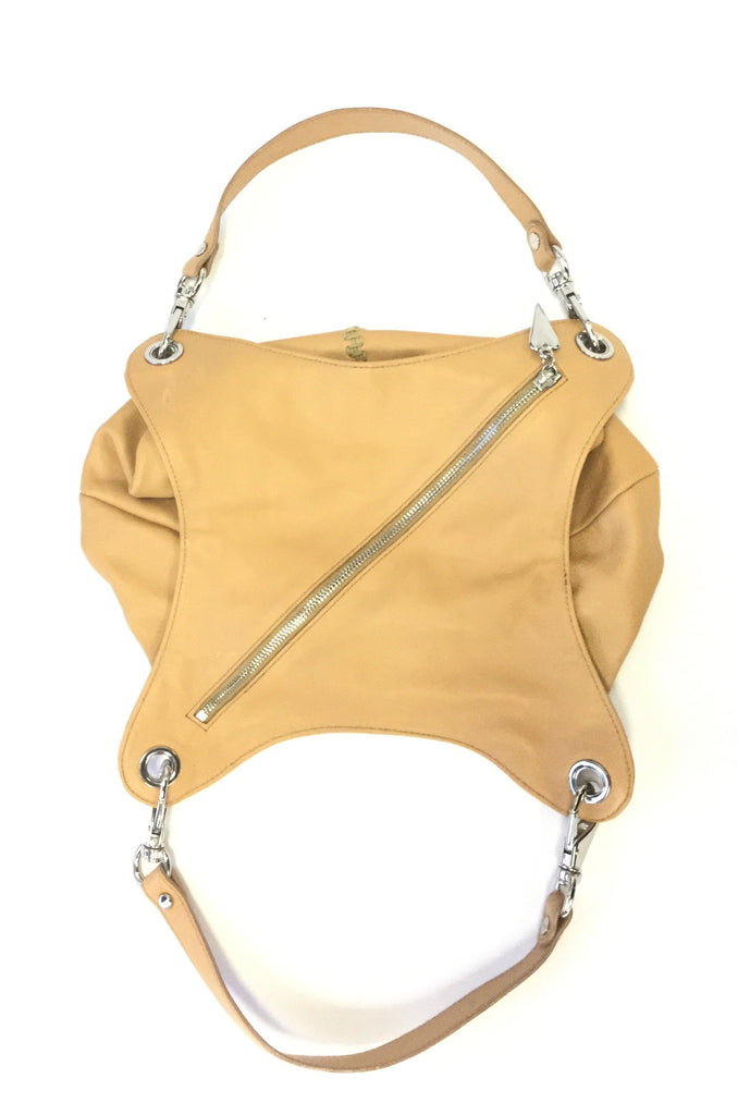 NEEDS PRICE Late 20th Century Desmo Italian Diagonal Closure Leather Slouch Handbag