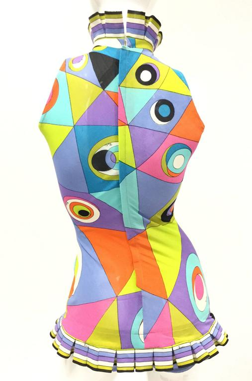 1960s Pucci Multicolored Geometric Tanning Mesh Swimsuit