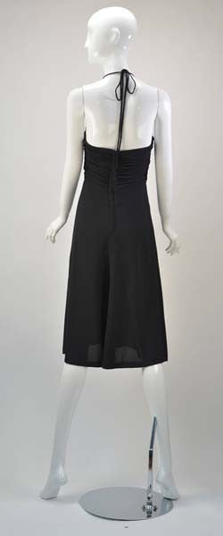 1970s Black Biba Dress