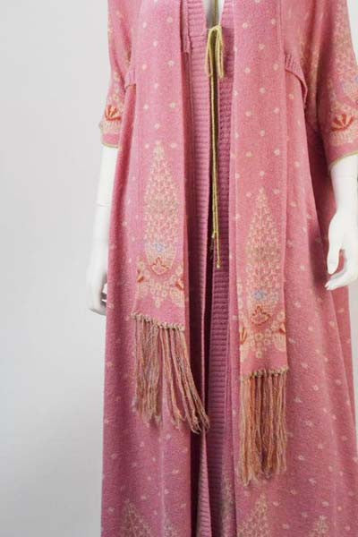 1975 Bill Gibb Pink Three Piece Knit Wear Ensemble
