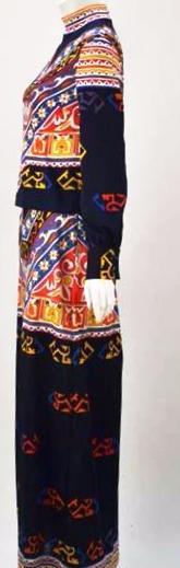 1970s Damonette of Italy Graphic Print Co-Ord