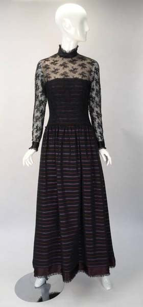 1970s Jerry Silverman Evening Gown