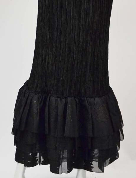 1980s Mary McFadden Couture Evening Gown