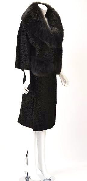 1940s Martha Weathered Black Persian Lamb Suit with Sable Trim