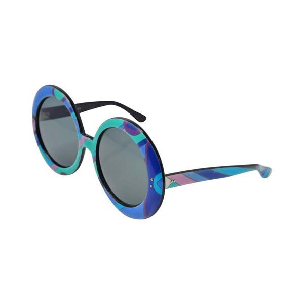 1960s Emilio Pucci Multicolored Mod Round Sunglasses