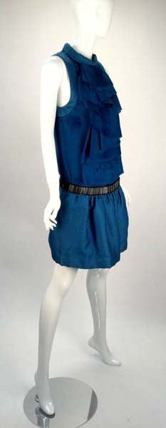 Biba Blue Drop Waist Mini Dress