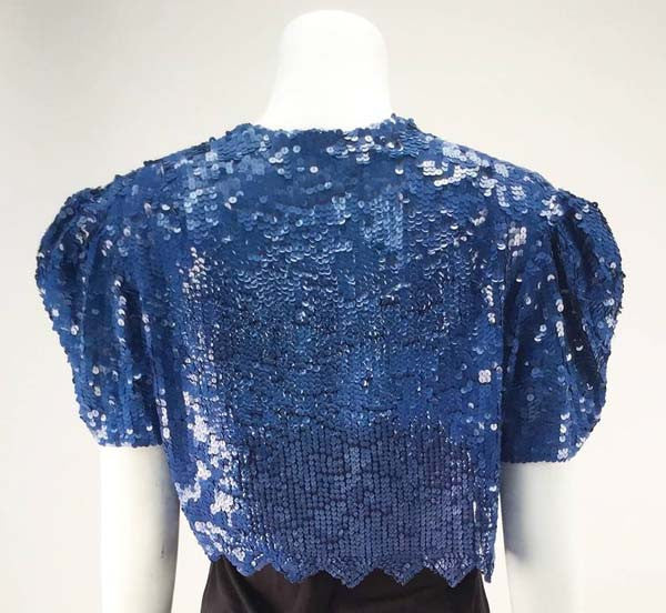 Mid 20th Century Blue Sequin Bolero