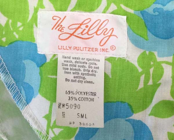 "Early 1970s ""The Lilly"" by Lilly Pulitzer Multicolor Floral and Butterfly Kaftan"