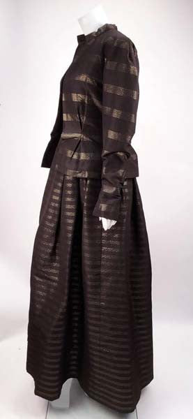 1980s Pauline Trigere Black and Gold Silk Faille Ballgown with Jacket