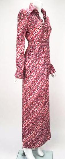 1960s Emilio Pucci Silk Jersey Blend Co Ord Blouse and Maxi Skirt