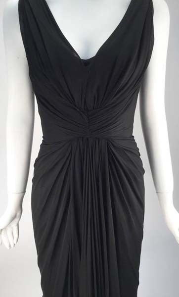 1960s Jobere Black Silk Cocktail Dress