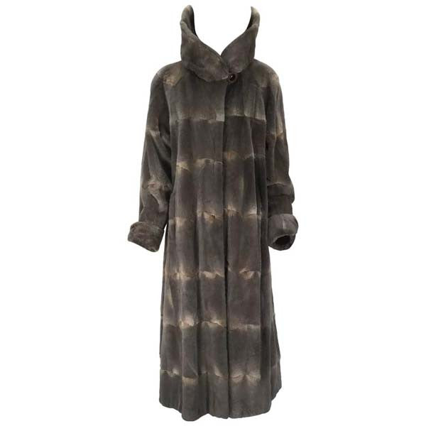 Vintage Maximilian Alta Moda Sheared Mink Coat with Oversized Collar