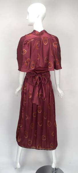 Gorgeous 1970s Marina Ferrari Silk Multicolored Circle Print Wrap Dress