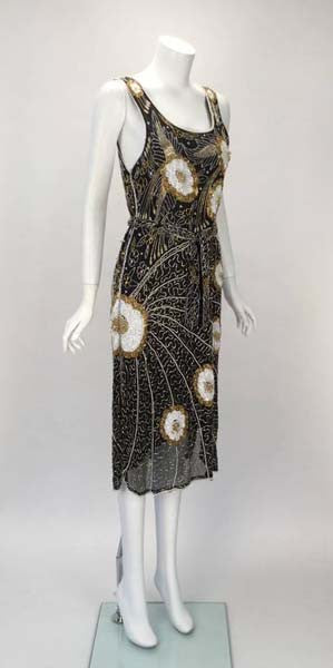 1980s Silk Beaded Dress
