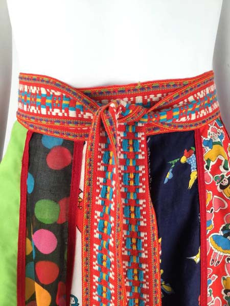 1970s Giorgio di Sant' Angelo Multi Fabric Cotton Skirt