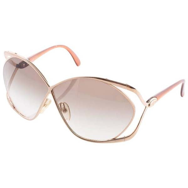 1980s Christian Dior Metal Butterfly Sunglasses