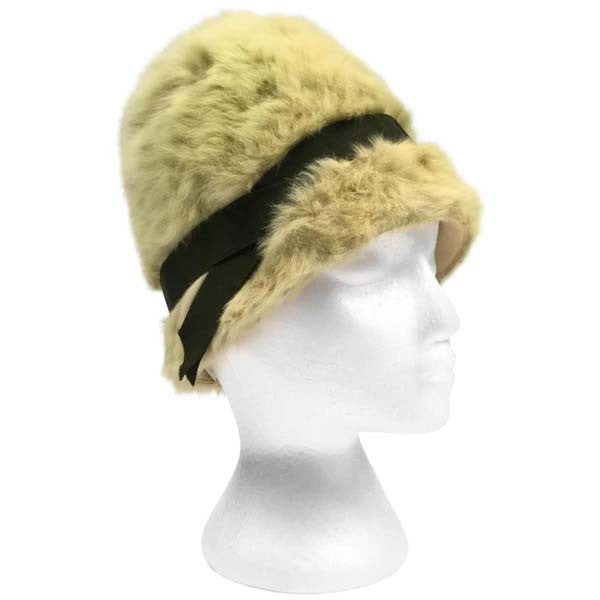 1960s Miss Dior Green Angora Hat