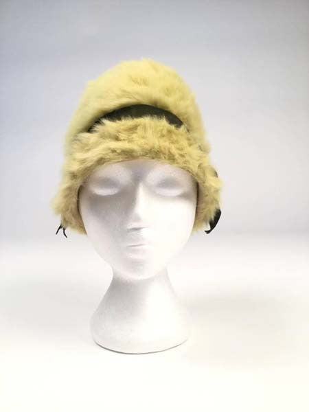 b18d91d7fe0 1960s Miss Dior Green Angora Hat - MRS Couture