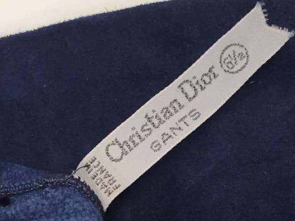 Vintage Christian Dior Parisian Blue Suede Opera Gloves - New Old Stock