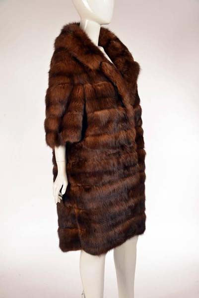 1950s Maximilian Horizontally Striped Mink Coat