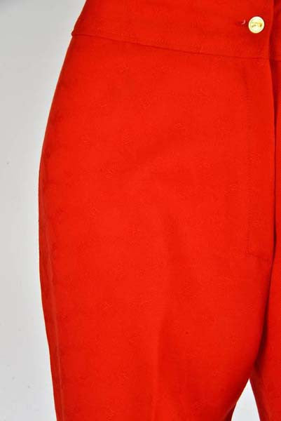 Vintage Roberta di Camerino Red Wool Trousers