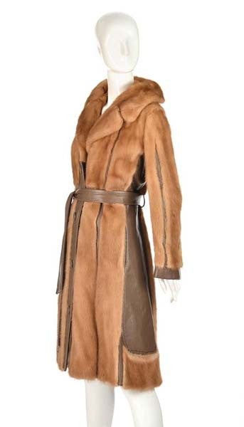 1970s Aladino Stefani Originals Mink and Leather Coat