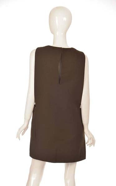 1960s Pierre Cardin Mod Narrow-Front Pinafore Jumper