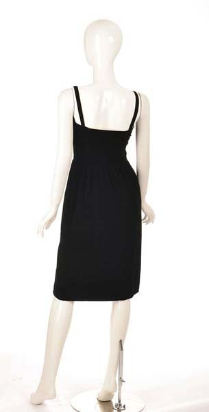 1970s Givenchy Nouvelle Boutique Black Velvet Dress