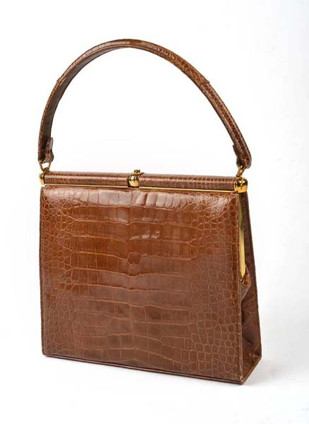 1960's Lucille de Paris Framed Alligator Handbag