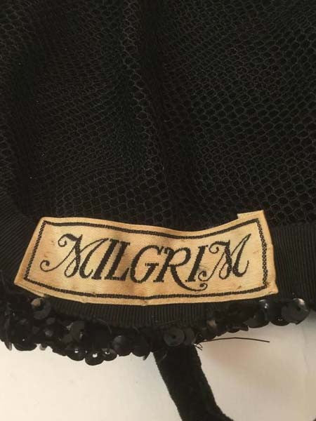 Vintage Milgrim Sequin and Beaded Ostrich Feather Hat