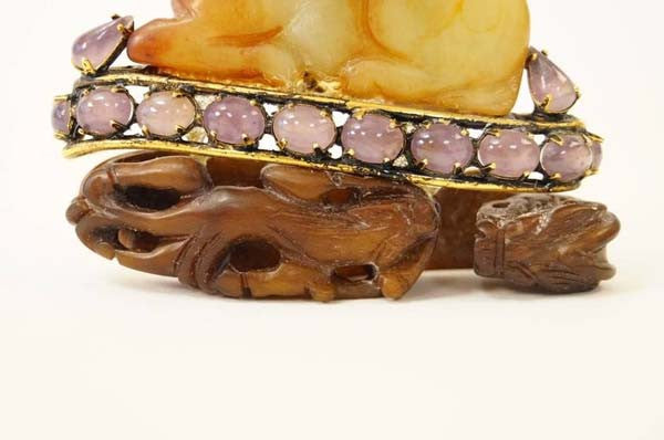 Iradj Moini Agate Jeweled Horse Brooch