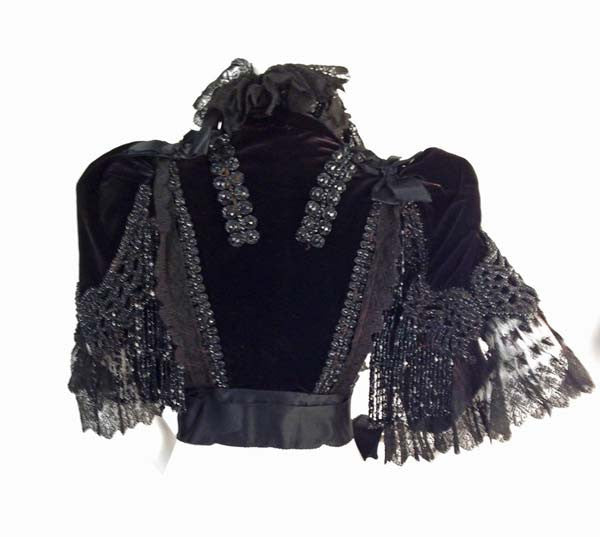 1890s House of Worth Beaded Capelet