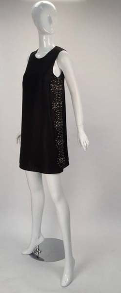 21st Century Black Studded Gucci Dress