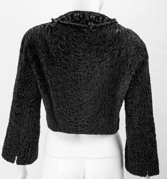 1950s Hattie Carnegie Black Persian Lamb Jacket
