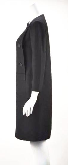 1960s Pierre Cardin Black Linen Mod Dress