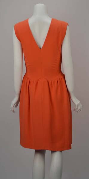 1960s Norman Norell Coral Dress