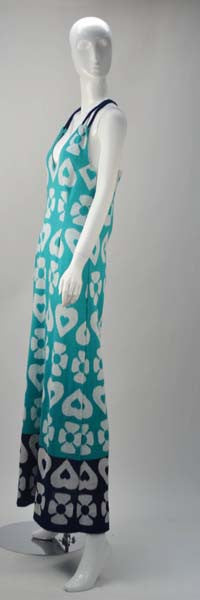 1960s Lanvin Hearts and Flowers Print Dress